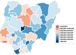 Demographics of Nigeria - Total population