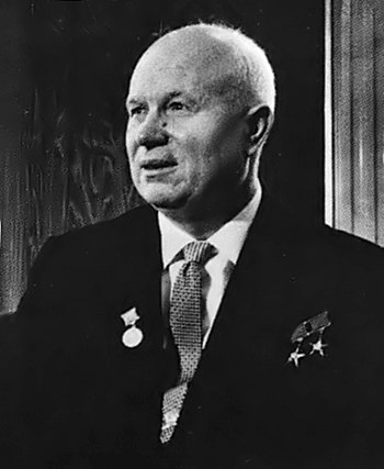 Soviet Premier Nikita Khruchchev in Vienna.