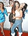 Nina Mercedez, Satine Phoenix, Leah Lexington at Evil Angel Party 5.jpg