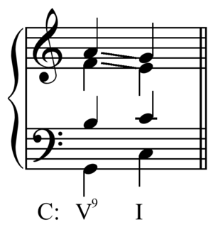 Ninth chord - Image: Ninth chord voice leading