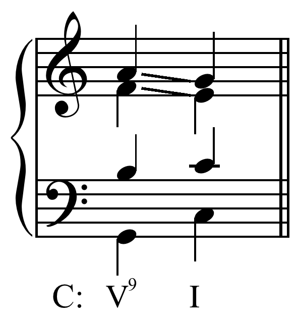 Ninth chord voice leading