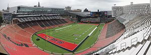 Nippert Stadium - View from south corner in September 2015