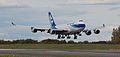 Nippon Cargo Airlines 747 Freighter touching down at ANC (6863681809).jpg
