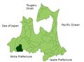 Nishimeya in Aomori Prefecture.png