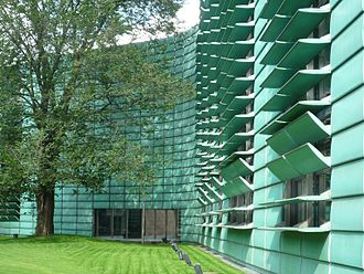 Copper in architecture - The Nordic Embassies, in Berlin, Germany.