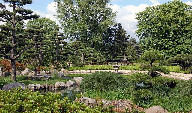 Japanischer Garten Sehenswürdigkeit In Düsseldorf Deutschland
