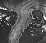 Norris Glacier, valley glacier with faint lateral moraines, August 24, 1963 (GLACIERS 6036).jpg