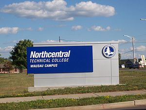 Northcentral Technical College - Image: Northcentral Technical College Wausau Sign