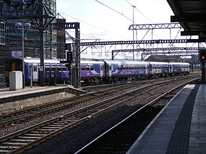 British Rail Class 155 - Northern Rail Class 155 (rear) coupled with two Class 153s arranged in their original formation at Leeds railway station