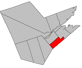 Location of Rogersville Parish within Northumberland County, New Brunswick