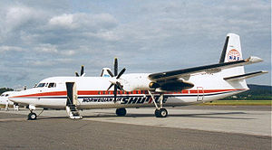 Norwegian Air Shuttle - A Fokker 50 operated by Norwegian Air Shuttle in 1999