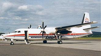 Norwegian Air Shuttle - A Fokker 50 operated by Norwegian Air Shuttle in 1999