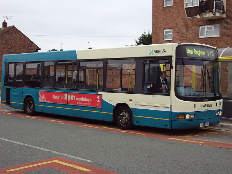 File:Number 119 bus, Mill Park, Wirral.JPG