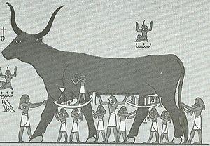 Nut (goddess) - The sky goddess Nut depicted as a cow
