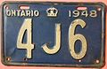 "ONTARIO 1948 -THREE CHARACTER LICENSE PLATE ""SHORTY"" - Flickr - woody1778a.jpg"