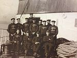 Officers and Deck Crew of SS Rushen Castle..JPG
