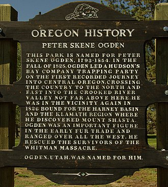 Peter Skene Ogden - Historical Marker at Peter Skene Ogden State Scenic Viewpoint