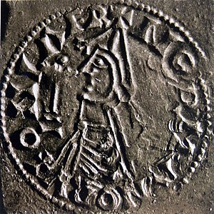 Olaf II of Norway - Coin of Olaf dated 1023–28.