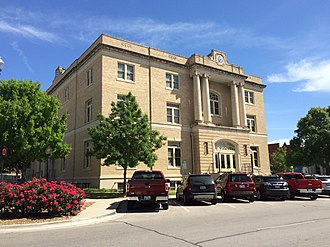 McKinney, Texas -  Old Collin County Courthouse in Courthouse Square, 2016.