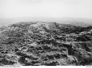 New Zealand Mounted Rifles Brigade - No. 3 Post with Chunuk Bair on the skyline