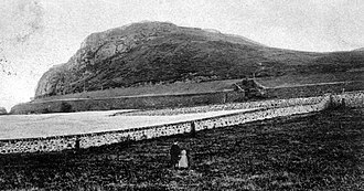 Clatchard Craig - Clatchard Craig viewed from the North. Late 19th or early 20th century.