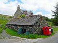 Old stone bothy, thatched - geograph.org.uk - 496428.jpg