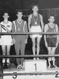 Oliver Taylor, Brunon Bendig, Oleg Grigoryev, Primo Zamparini 1960.jpg