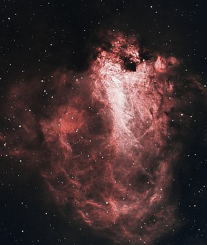 Omega Nebula - Picture of M17 captured in narrowband by amateur astronomer Chuck Ayoub