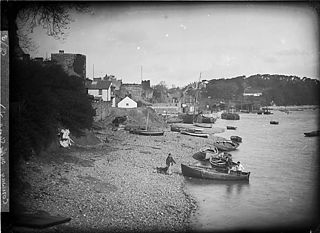 On the shore, Conwy
