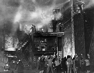 Howard Bay (designer) - Howard Bay's set and the fatal fire in the tenement that begins One-Third of a Nation, a Living Newspaper about housing produced by the Federal Theatre Project (1938)