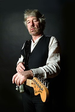 "One of a series of test shots for Willy Russell's debut album ""Hoovering The Moon"". This was taken in Kate Rusby's recording studio at her home near Barnsley, South Yorkshire. (82088943).jpg"