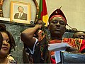 Opposition lawmaker Joseph Mbah Ndam on the rostrum, in Yaounde, Cameroon, April 4, 2017.jpg