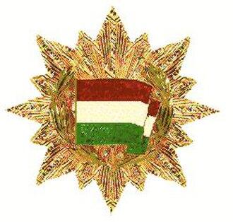 Order of the Flag of the Republic of Hungary - Image: Orde van de Vlag van de Volksrepubliek Hongarije