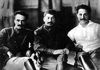Anastas Mikoyan - The Caucasus trio: From left to right, Mikoyan, Joseph Stalin and Sergo Ordzhonikidze