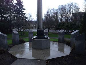 Oregon Veterans Medal of Honor Memorial - The memorial in 2015