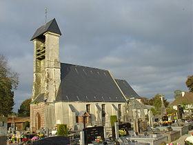 L'église d'Ostreville sur wikipedia