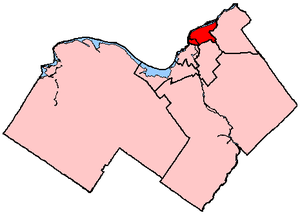 Ottawa—Vanier - Ottawa—Vanier in relation to other electoral districts in Ottawa