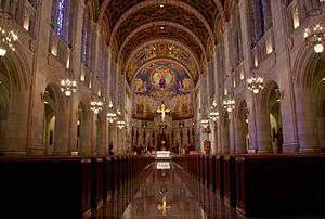 Rosary Cathedral (Toledo, Ohio) - The altar and nave