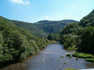 river in Belgium, Germany and Luxembourg