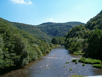 Our (river) - The Our flowing through the Ardennes in Luxembourg