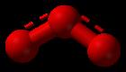 Molecuulmodel van ozon