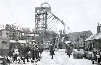Miners (poem) - The Minnie Pit in Staffordshire, scene of the colliery disaster which occasioned Owen's poem