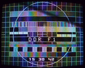 Deutscher Fernsehfunk - A 1980 test pattern, broadcast on the renamed DDR-F1.
