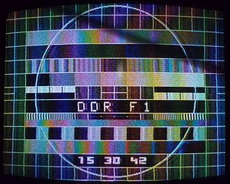 Deutscher Fernsehfunk - A 1980 test pattern, broadcast on the renamed DDR-F1.
