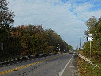 Pennsylvania Route 285 - PA 285 west of Conneaut Lake
