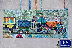 PHILADELPHIA Dampflokomotive (Mosaik),Wilhelmstraße 68,Wien 12.jpg