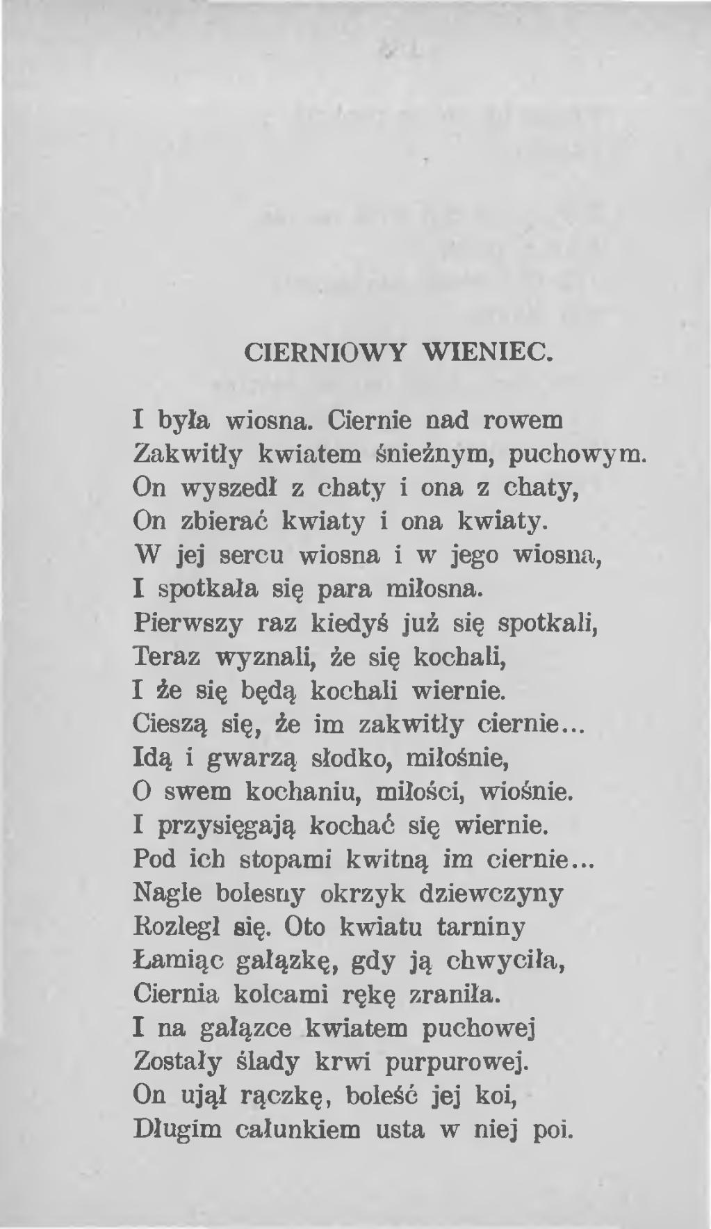 Dla dziewczyny miłosne wiersze Wiersze i