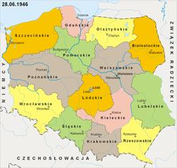 Podział administracyjny w 1946 r.