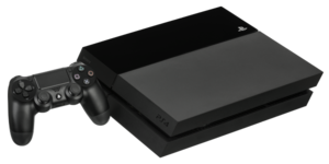 PlayStation 4 models - Original PlayStation 4 with a DualShock 4 controller