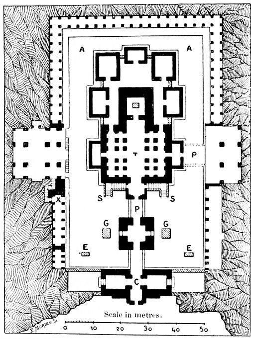 PSM V41 D043 Plan of the temples at kylas